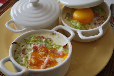 oeufs cocotte lardons et poireaux (2)
