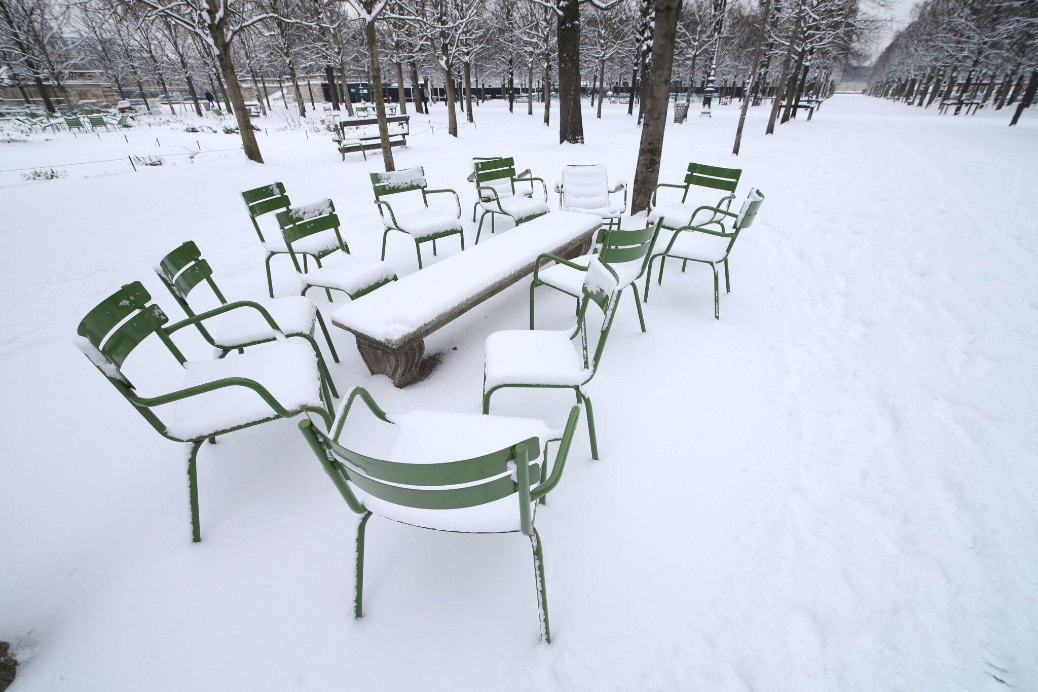 Paris sous la neige. © Photo Michel Stoupak. Sam 19.01.2013, 11:24.