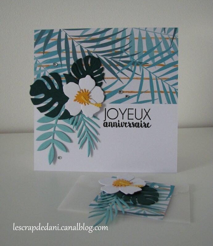 dani set2 carte & magnet hibiscus