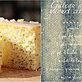 Gâteau au yaourt au citron et pavot