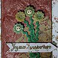 Carte d'anniversaire aux boutons-fleurs