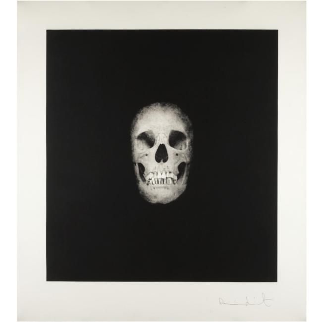 Damien Hirst (B.1965), Skull V (from I once was what you are, you will be what I am). photo courtesy Sotheby's