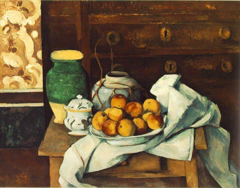 Cézanne - Nature Morte avec une commode