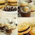 Trilogie de crème chocolat-coco et son biscuit