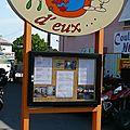 L'antre d'eux aubenas ardèche restaurant photo humour jeu de mot devanture