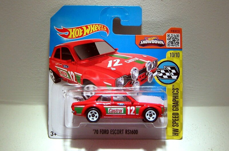 Ford escort RS 1600 de 1970 (Hotwheels 2016)