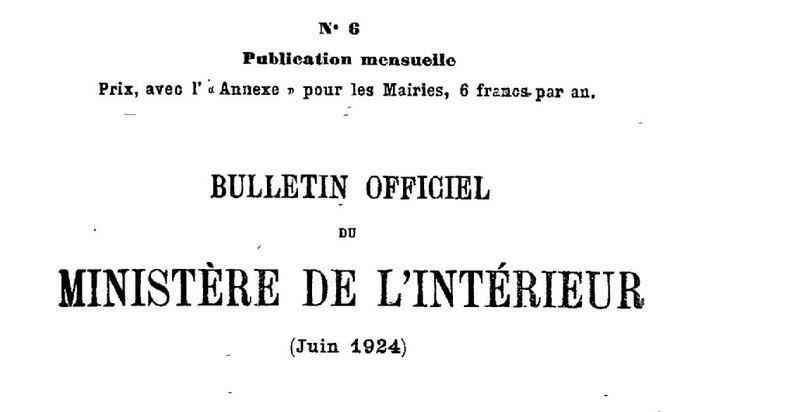 Bulletin officiel du ministère de l'intérieur 1924_1