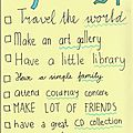 My life to do list