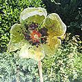 Fleur en verre fusing