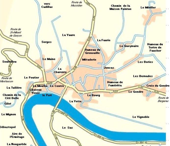 Lieu-Dit de la commune du Fleix