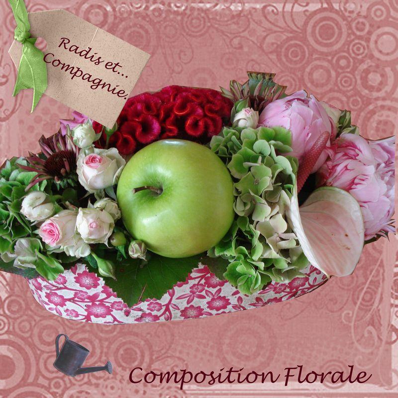 composition florale radis et compagnie. Black Bedroom Furniture Sets. Home Design Ideas