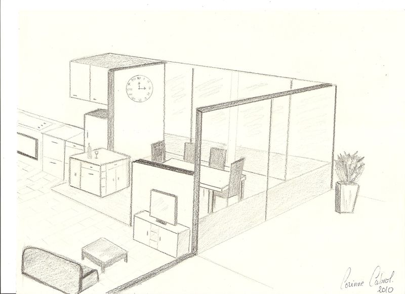 dessin de salon en perspective gascity for. Black Bedroom Furniture Sets. Home Design Ideas