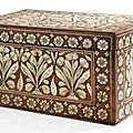 Boîte rectangulaire en bois, inde, probablement gujarat, xviiie siècle