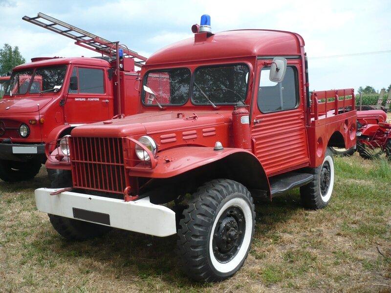 DODGE WC-51 avec cabine Citroën HY véhicule de pompiers Ohnenheim (1)
