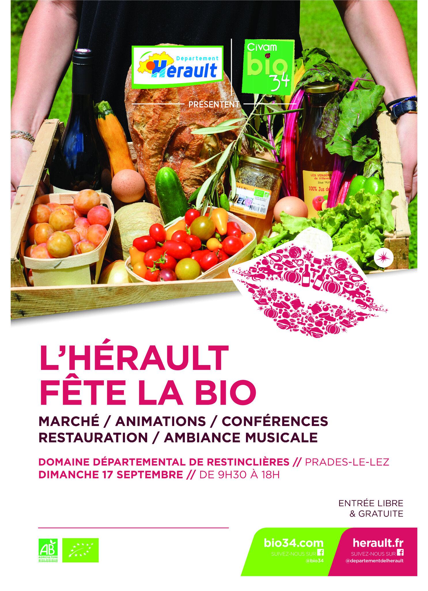 Retrouvez Les Jardins De Tara dimanche 17 septembre à Prades le Lez pour la 7ème édition de l'Hérault fête le bio (34)