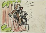 Donald Duck Out On a Limb Storyboard Drawing Animation Art 03