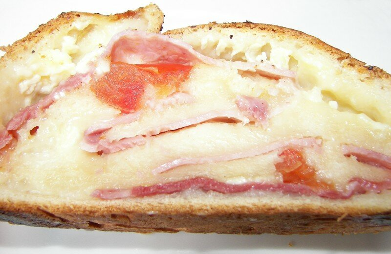 Tresse farcie jambon/toamte/camembert