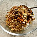 Granola gingembre carottes pruneaux