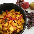 Confiture de nectarines au miel de lavande et au romarin