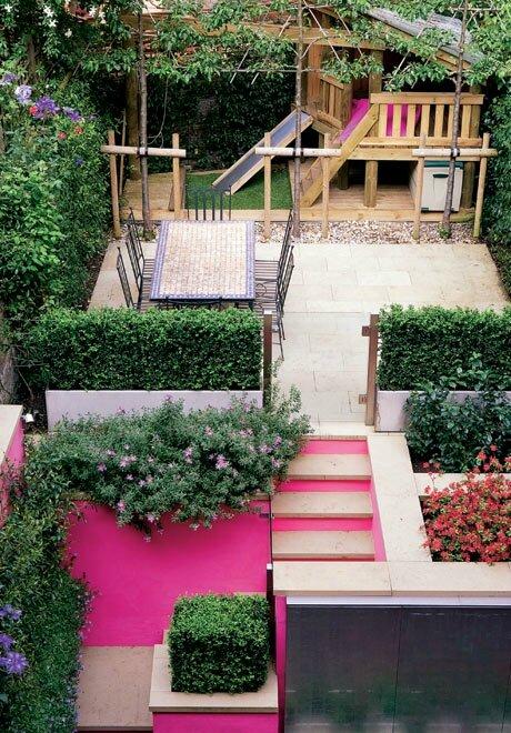 Tout le monde dehors une touche de for Small urban garden design