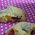 Cookies aux cranberries et chocolat blanc