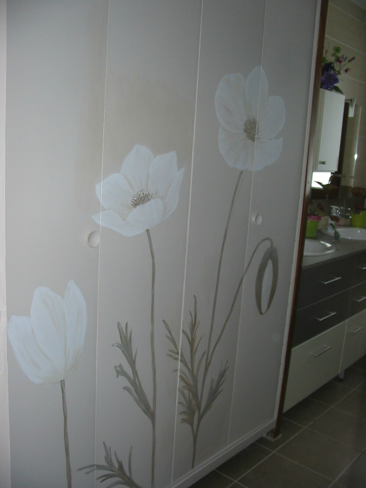 Decoration d 39 un placard photo de decoration d 39 interieur tendance peinture et patine for Peinture d interieur tendance