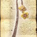 MP lampwoork jaune rose et fleur bois jaune