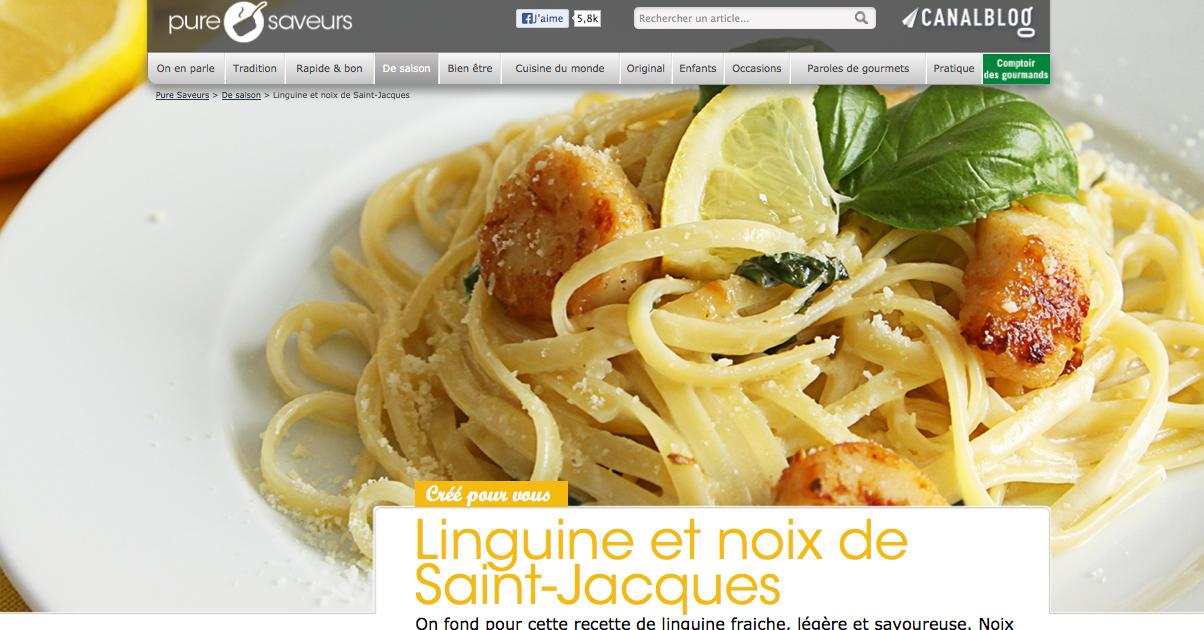 Linguine et noix de Saint-Jacques