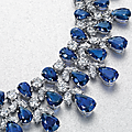 A sapphire and diamond necklace, by graff