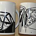 lot de 2 mugs Tintin