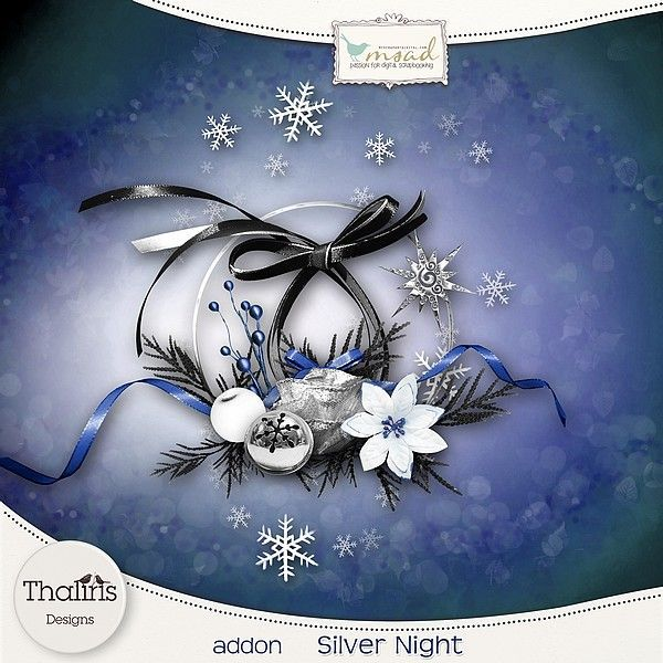 "Free scrapbook ""Silver Night"" from Thaliris"