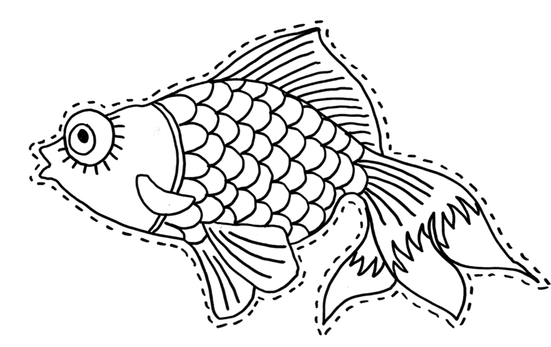 Decoupage coloriage du poisson d 39 avril - Dessin de poisson d avril ...