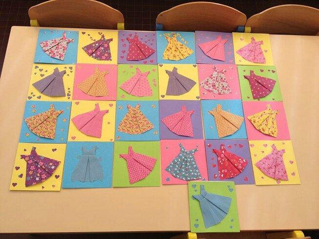 origami dresses
