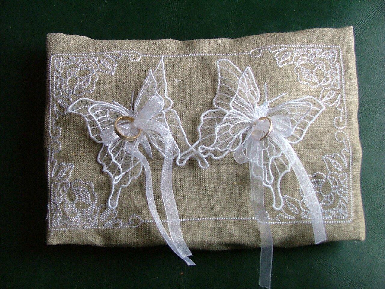 Tuto coussin de mariage mes petits secrets de creations - Modele papillon ...