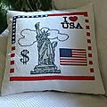 Coussin I Love USA
