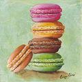 Toile ou carte macarons - Création Catherine Martini