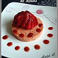 Médaillons aux biscuits roses de reims