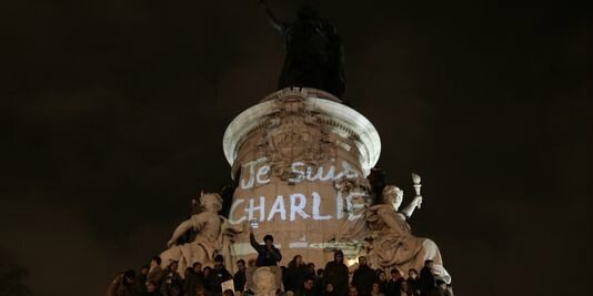 Place de la République, Paris, 7 hanvier (Photo AFP)