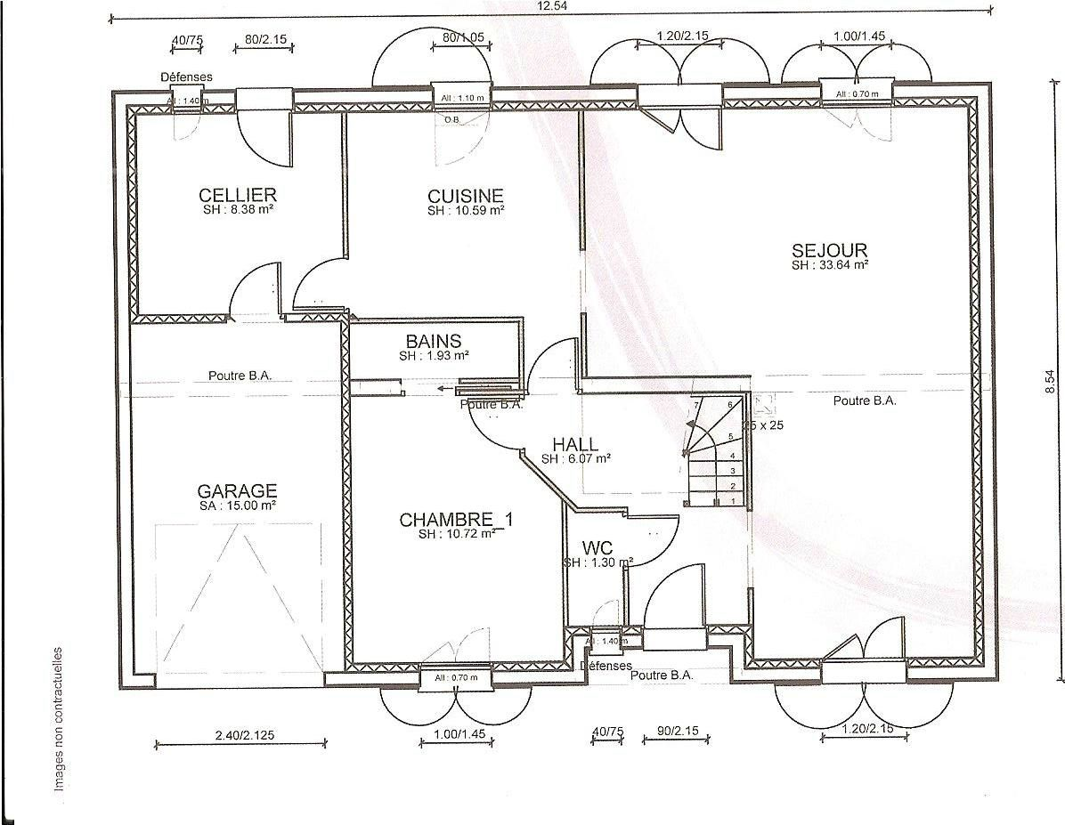 Awesome les premiers plans de la maison avec le et lutage with plan de maison simple