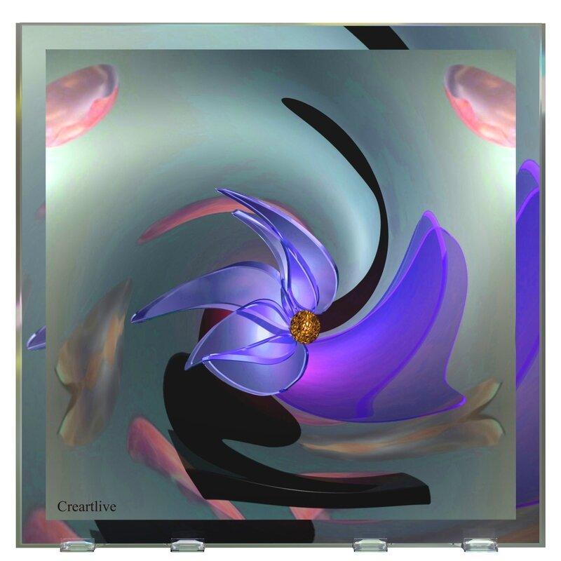 Calice & fleur bleue