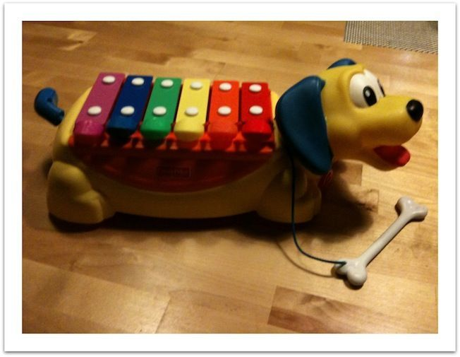 chien xylophone