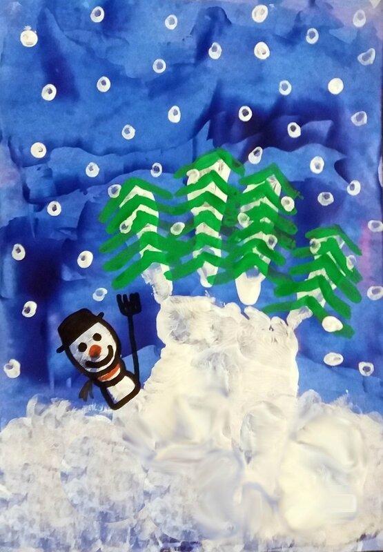 224_Noël et Nouvel an_Calendrier Sapins sur la montagne (44B)