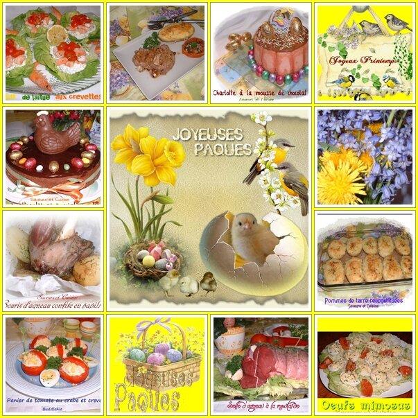 Tout autour de Pâques (mon menu traditionnel, mes recettes et ma table de Pâques )