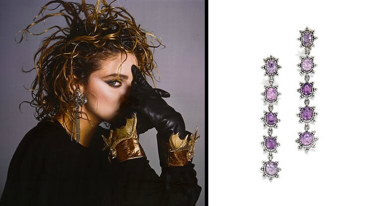 Madonna & Statement Earrings
