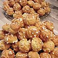 Chouquettes vanille, cognac et eau de fleur d'oranger !