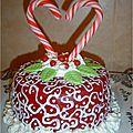 Gâteau amour coeur face