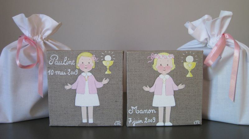 Premi re communion version gar on 20x20cm sage comme for Idee deco 1ere communion