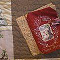 sur un patch de taille moyenne dont le thème était le Petit chaperon rouge, ce livre en tissu avec des pages brodées