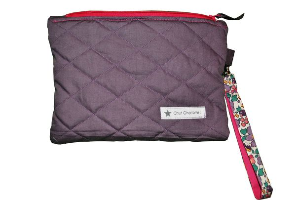 Pochette matelasse Liberty aubergine (3)
