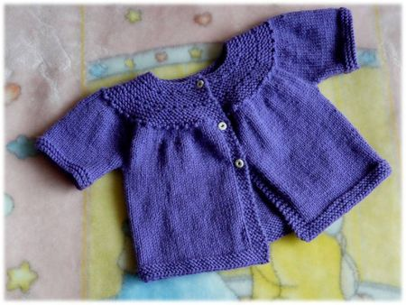 Cardigan à empiècement arrondi MC violet